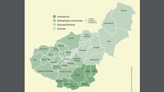 Mapa Alhama De Granada.La Granada Que El Gobierno No Acepta Dividir Para La Desescalada Donde Esta Cada Municipio