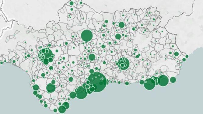 Nuevos casos de coronavirus en los últimos 14 días por municipios