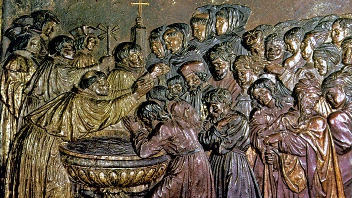 Detalle de la sillería del coro de la Capilla Real de Granada, de Felipe Vigarny.