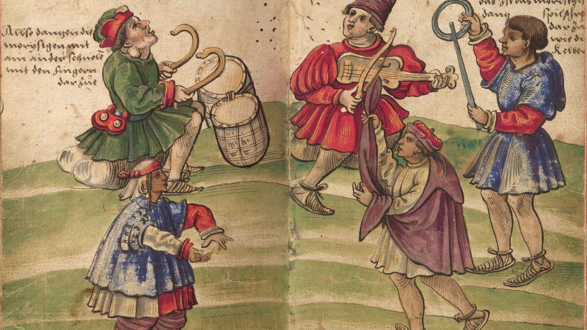 Grabado sobre los moriscos de Cristophe Weiditz (1529).