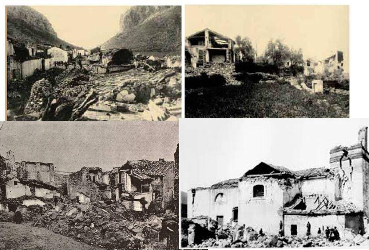 Escenas del terremoto de 1884.
