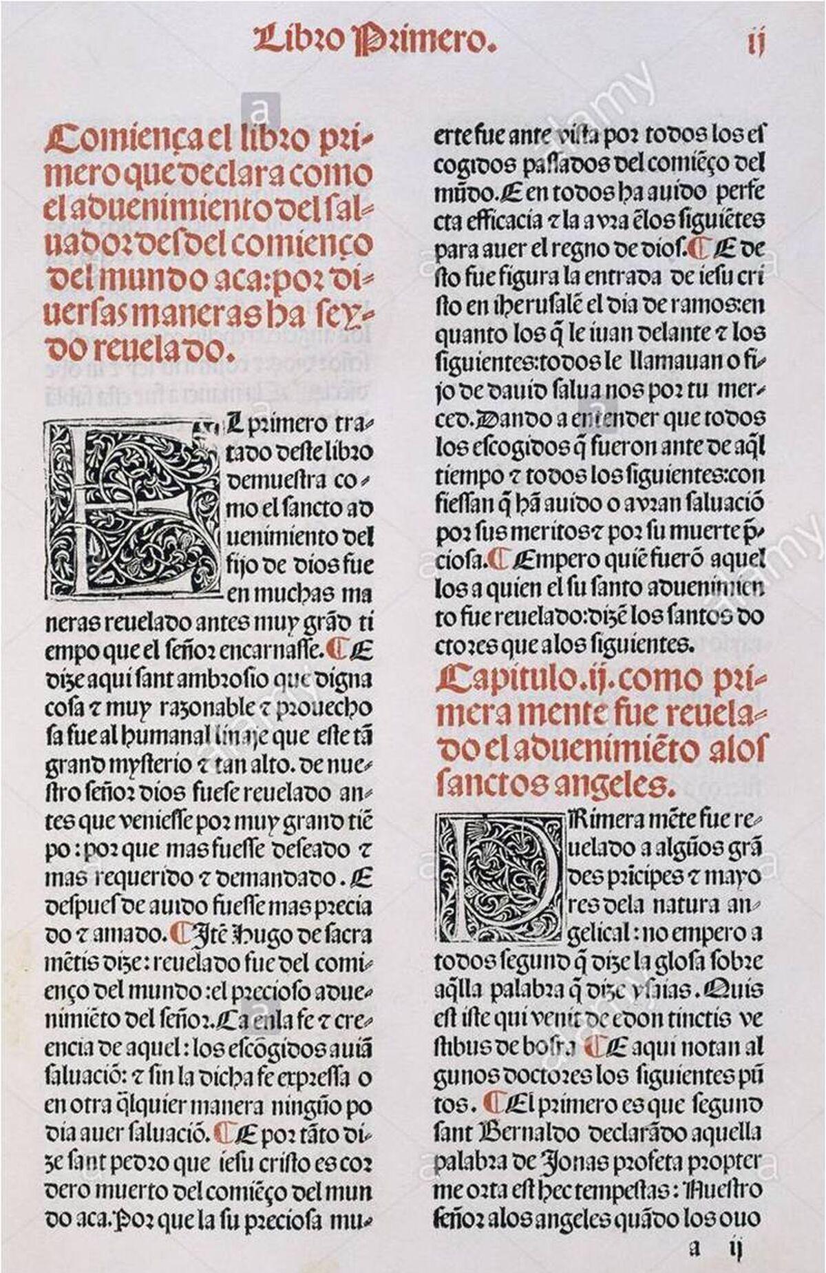 F. Eiximenis. Vita Christi. Primer libro impreso en Granada